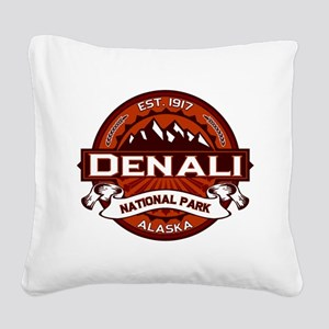 Denali Crimson Square Canvas Pillow