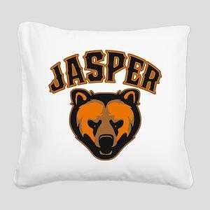Jasper Bear Face Square Canvas Pillow
