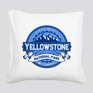 Yellowstone Blue Square Canvas Pillow