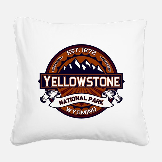Yellowstone Vibrant Square Canvas Pillow