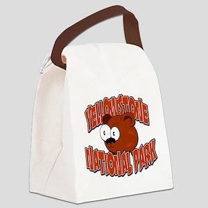 Yellowstone Bear Canvas Lunch Bag