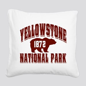 Yellowstone Old Style Vermillion Square Canvas