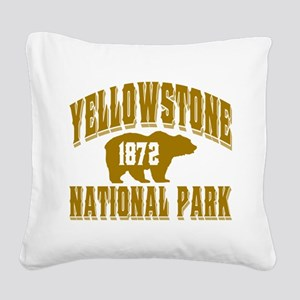 Yellowstone Old Style Gold Square Canvas Pillo