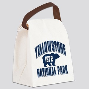 Yellowstone Old Style Blue Canvas Lunch Bag