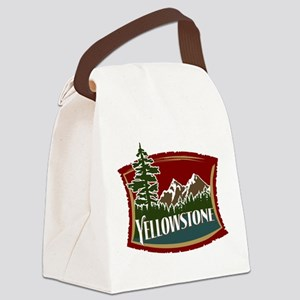 Yellowstone Mountains Canvas Lunch Bag