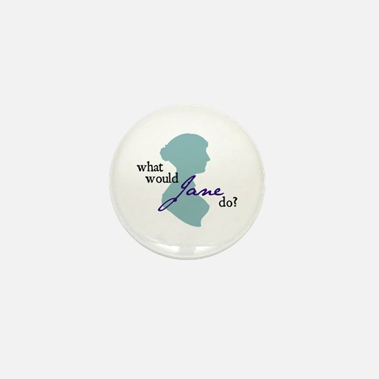 Cute Austen Mini Button
