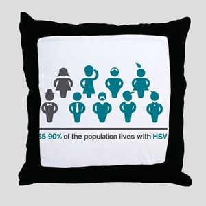 ProjectAccept.org - HSV Stat Throw Pillow