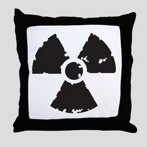 Nuclear Sign Throw Pillow