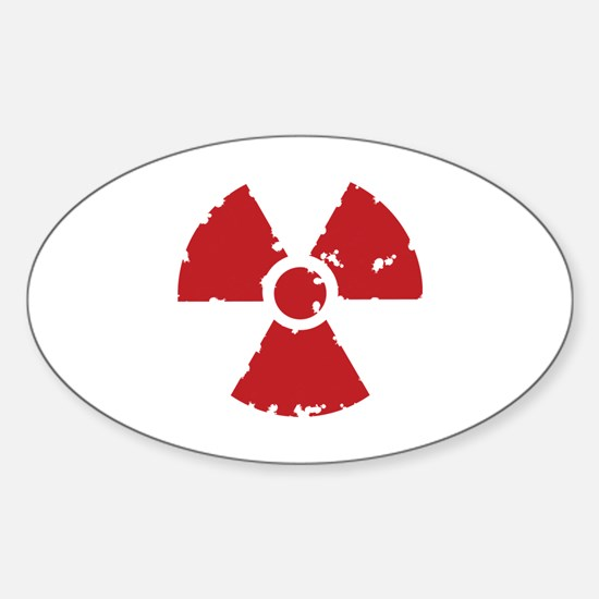 Nuclear Sign Sticker (Oval)