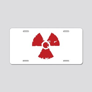 Nuclear Sign Aluminum License Plate