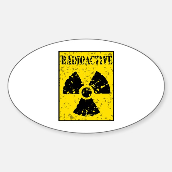 Radioactive Sticker (Oval)