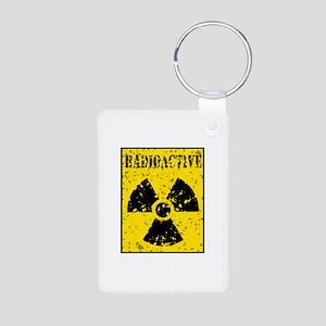 Radioactive Aluminum Photo Keychain