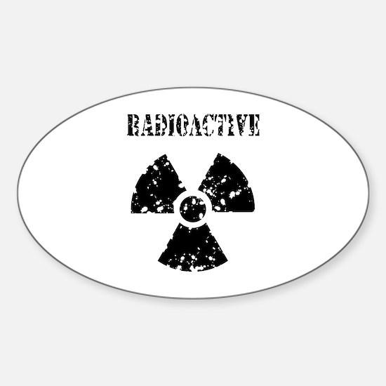 Radioactive Sticker (Oval)