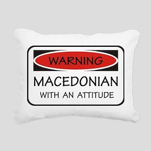 Attitude Macedonian Rectangular Canvas Pillow