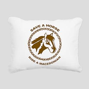 Ride A Macedonian Rectangular Canvas Pillow