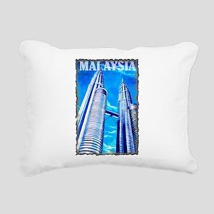 Malaysia Twin Towers Rectangular Canvas Pillow