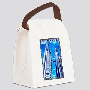 Malaysia Twin Towers Canvas Lunch Bag