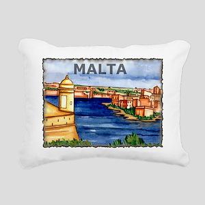 Vintage Malta Art Rectangular Canvas Pillow
