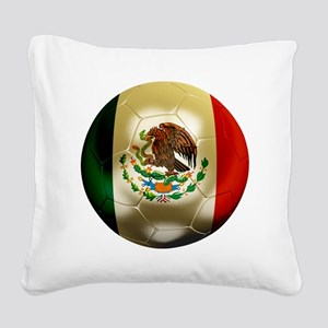 Mexico World Cup Square Canvas Pillow