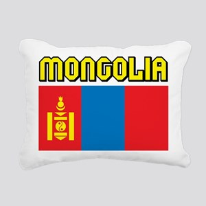 Mongolia Flag Rectangular Canvas Pillow