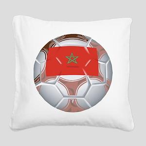 Morocco Soccer Square Canvas Pillow