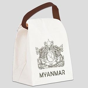 Vintage Myanmar Canvas Lunch Bag