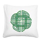 Celtic Four Leaf Clover Square Canvas Pillow