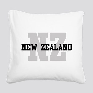 NZ New Zealand Square Canvas Pillow