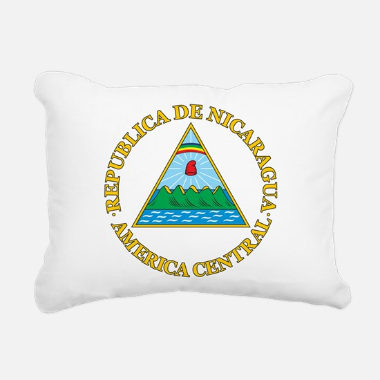 Nicaragua Coat Of Arms Rectangular Canvas Pillow