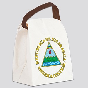 Nicaragua Coat Of Arms Canvas Lunch Bag