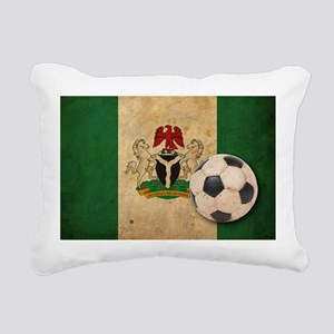Vintage Nigeria Football Rectangular Canvas Pillow