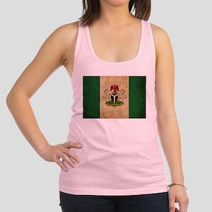 Vintage Nigeria Flag Racerback Tank Top