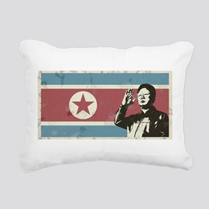 Vintage North Korea Rectangular Canvas Pillow