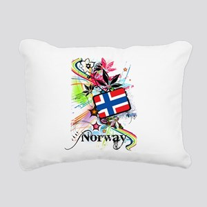 Flower Norway Rectangular Canvas Pillow