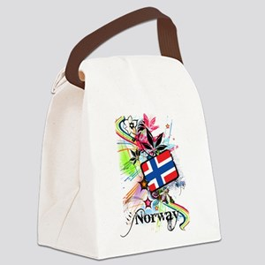 Flower Norway Canvas Lunch Bag
