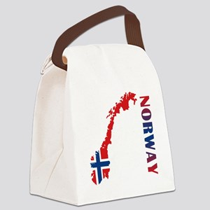 Map Of Norway Canvas Lunch Bag