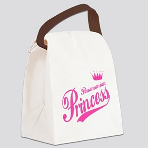 Panamanian Princess Canvas Lunch Bag