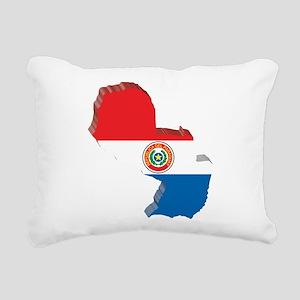 3D Paraguay Map Rectangular Canvas Pillow