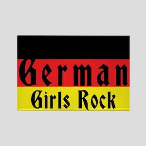 German Girls Rock Rectangle Magnet
