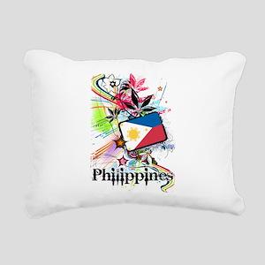 Philippines Rectangular Canvas Pillow