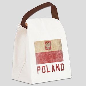 Vintage Poland Canvas Lunch Bag