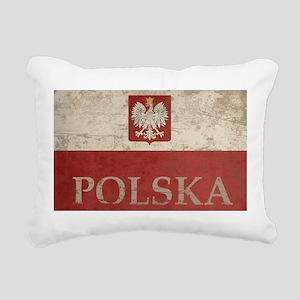 Vintage Polska Rectangular Canvas Pillow