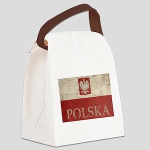 Vintage Polska Canvas Lunch Bag