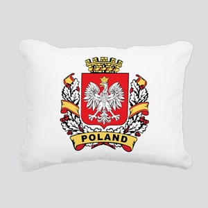 Stylish Poland Crest Rectangular Canvas Pillow