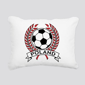 Poland Soccer Rectangular Canvas Pillow