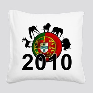Portugal World Cup Square Canvas Pillow