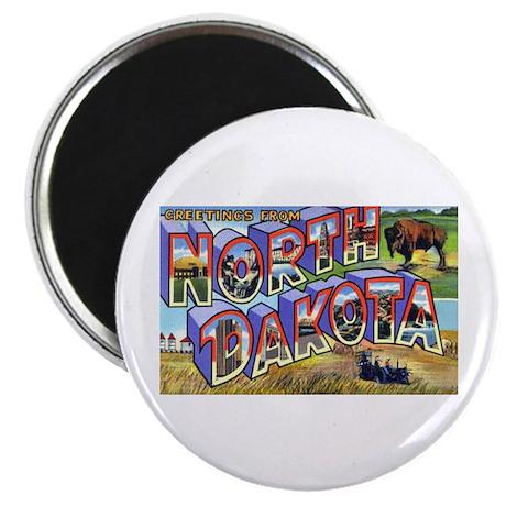 """North Dakota Greetings 2.25"""" Magnet (10 pack)"""