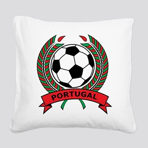 Soccer Portugal Square Canvas Pillow