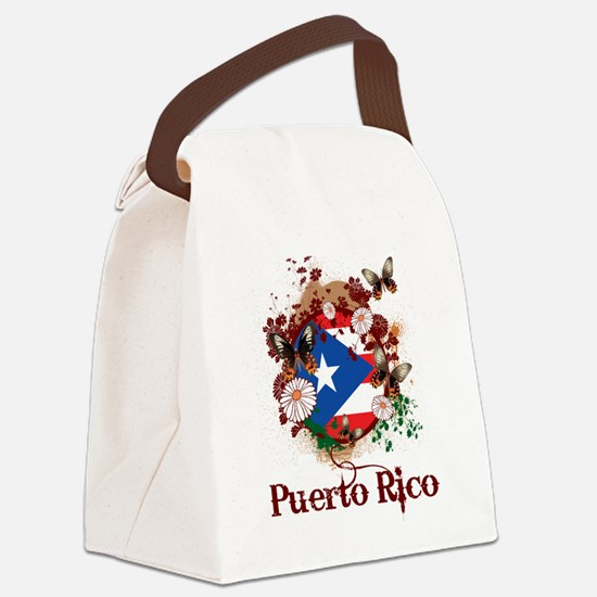 Butterfly Puerto Rico Canvas Lunch Bag