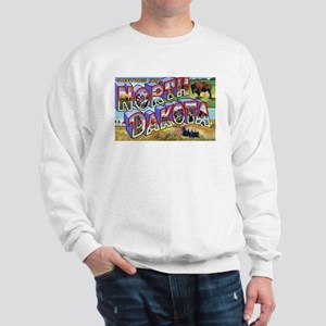 North Dakota Greetings (Front) Sweatshirt